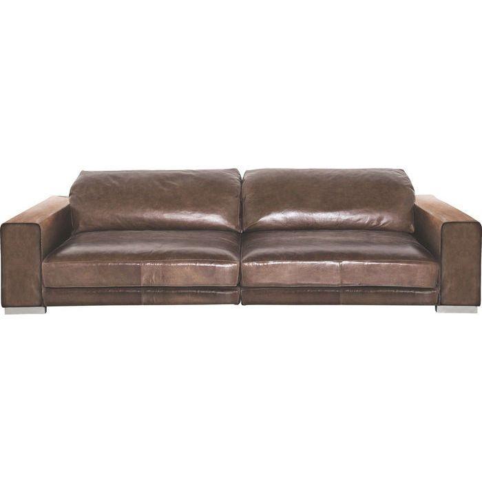 Studio Divani Sofa Grandezza Leather Marrone Chiaro - KARE Design A re-edition of an old colonial treasure discovered at a flea market. #sofa #brown #leather #couch #italy #design #big #wildathome #leder #braun #xxl