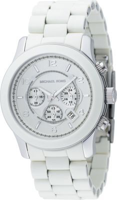 25 best ideas about white michael kors watch watch michael kors watch mens chronograph runway white polyurethane and stainless steel bracelet all watches jewelry watches macys