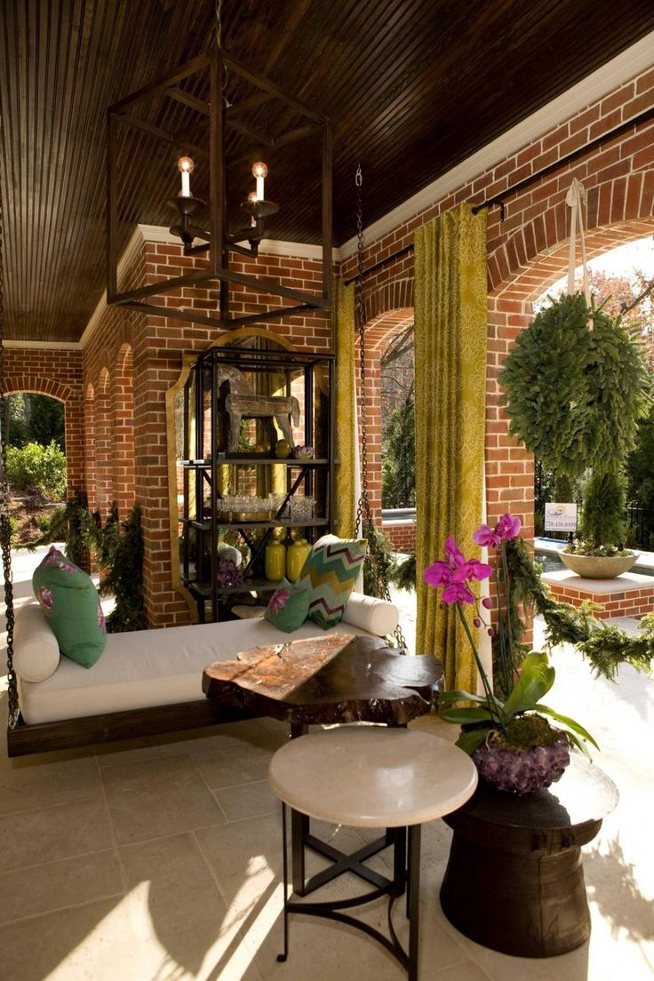 brick wall outside patio