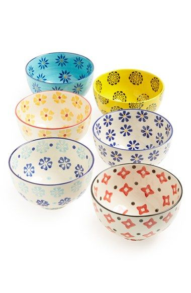 cute print bowls