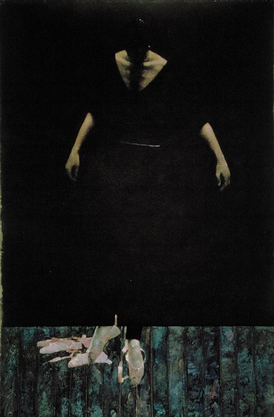 Robert Heindel - Dancer in Black on Black