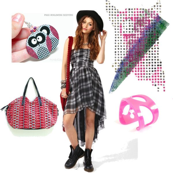 """""""Checkered"""" by MADEbyMADA on Polyvore"""