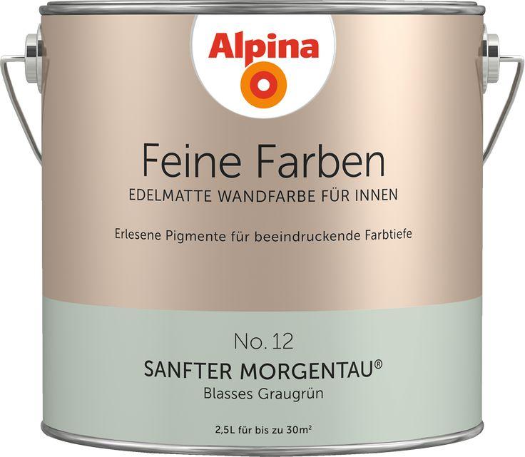 """Alpina Feine Farben No. 12 """"SANFTER MORGENTAU"""" - Blasses Graugrün"""