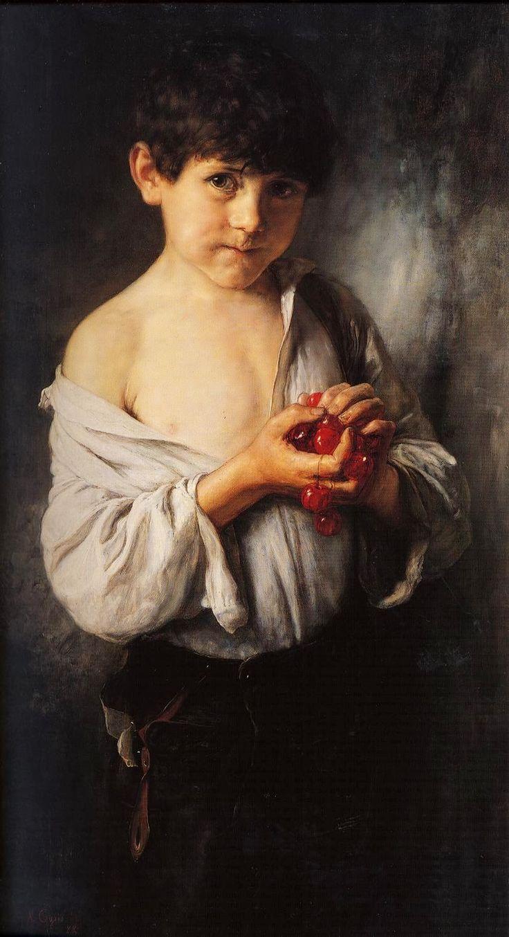Νικόλαος Γύζης,Το παιδί με τα κεράσια