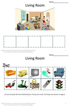 Worksheets Special Ed Worksheets 17 best ideas about kindergarten special education on pinterest what belongs where pk k autism packet contains nine