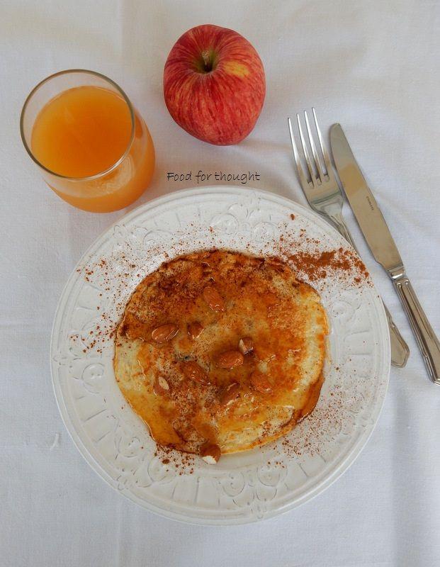 Food for thought: Πρωτεϊνική τηγανίτα με ασπράδι αυγού και βρώμη / Δ...