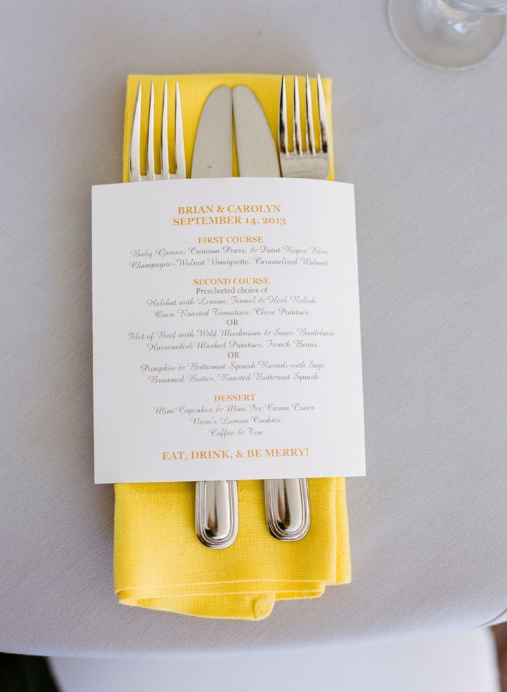 サマーウェディングにピッタリ♡結婚式のテーマカラーは黄色!イエローのメニュー表まとめ一覧♡