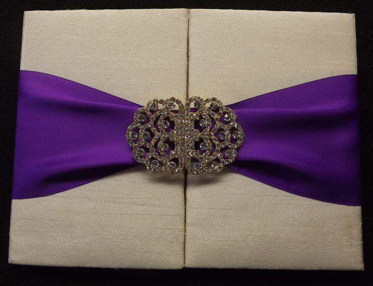 Front of Silk Box Wedding Invitation.