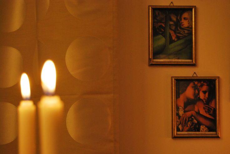 Candele e Tamara de Lempicka Candles and Tamara de Lempicka