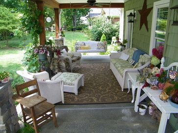 Front Porch Decorating Ideas Summer Makeover 2010 Traditional