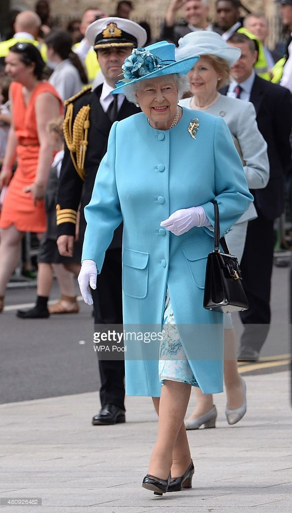 Queen Elizabeth II visits the Abbey Leisure Centre in Barking as part of celebrations to mark Barking and Dagenham's 50th anniversary as a London Borough on July 16, 2015 in Barking, London, United Kingdom. (Photo by Stefan Rousseau - WPA Pool/Getty Images)