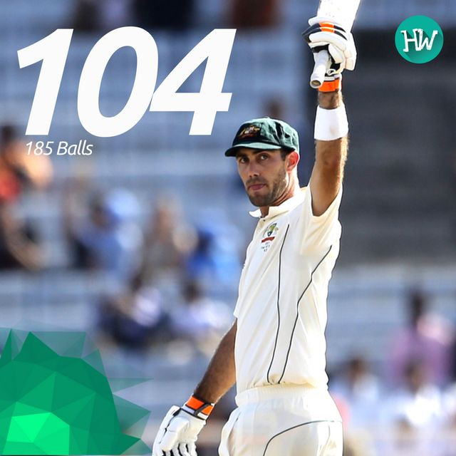 A maiden Test century by Glenn Maxwell and a bloody fine one! The Big Show was indeed the Big Show! #INDvAUS #IND #AUS #cricket
