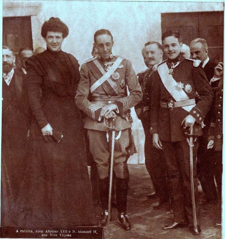 Lanceros del Rey. SM el Rey Alfonso XIII con D. Manuel II de Portugal