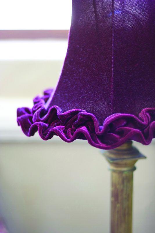 Purple lamp shade