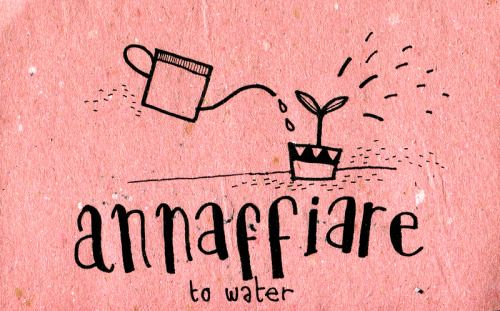 Learning Italian Language ~  Annaffiare (  To water ) IFHN