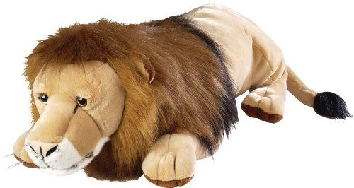 Large, but not huge.  Soft stuffed to make it really cuddly.  Give it a shake and the mane looks amazing.