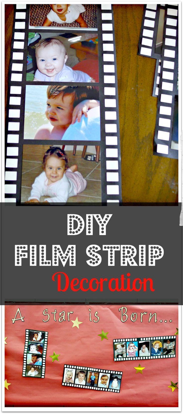 DIY photo film strip decoration for red carpet graduation ceremony. Easy and che...  #carpet #ceremony #che #decoration #DIY