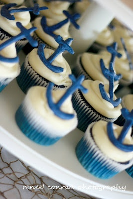 Nautical Wedding Cupcakes