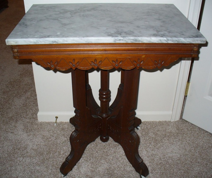 Antique Marble Top Table Antique Collectible Furniture