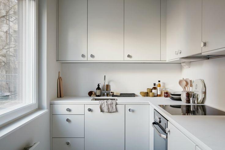 Small all-white kitchen