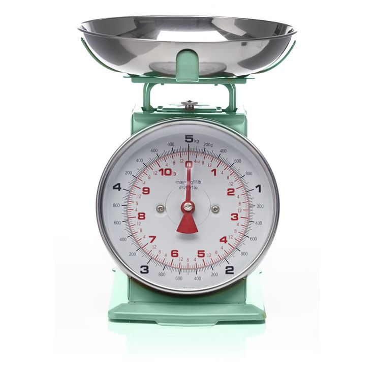 Blue Kitchen Scales: Mint Green Vintage Weighing Scales