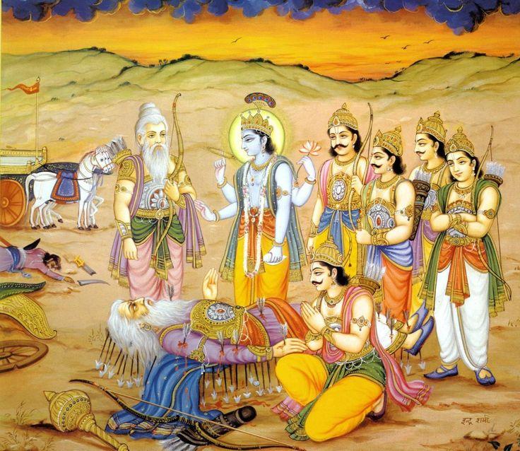 Mahamahim Bhishma on the bed of arrows