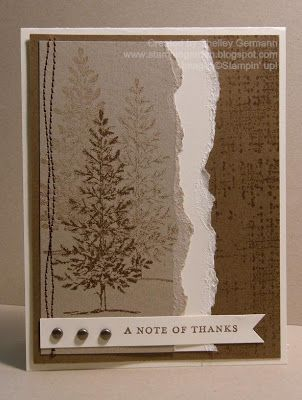 Stampin' Up! Lovely as a Tree and Thank You Kindly.  Great masculine card.