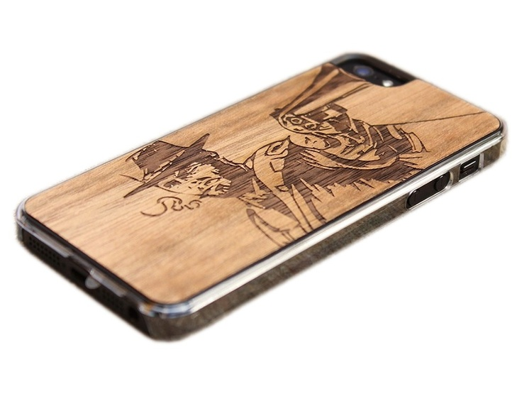 Carved wood skin for iPhone