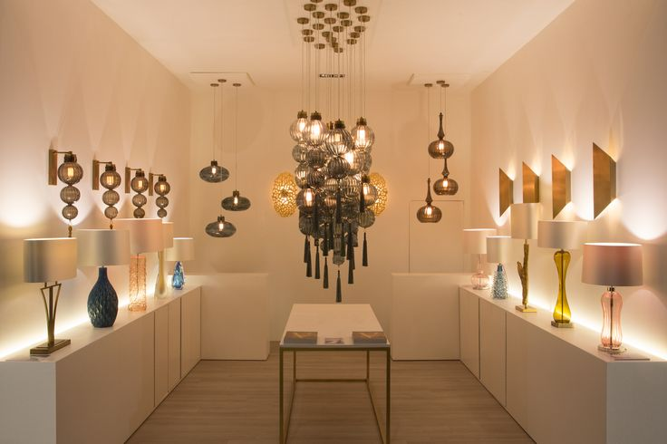 EUROLUCE 2015 | Heathfield & Co's featured selection of 'Signature' designs included the beautiful Medina ceiling pendants and Medina wall lights in a Smoke finish. A collection of renowned table lamp designs from the Signature collection were also featured including the Deco-inspired 'Yves', the tear-drop shaped 'Pelorus Frost' and the driftwood inspired 'Fontaine' in a Gold finish.