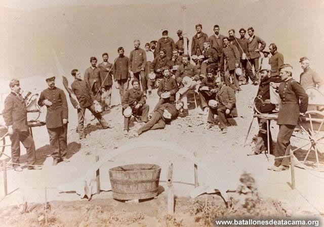 Fotografías Históricas de La Guerra del Pacifico 1879 _ 1884 Ambulancia Valparaíso en Antofagasta.