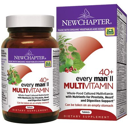 New Chapter 40+ Every Man Ii Multi Vitamin, Tablets - 96 Ea