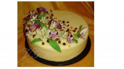 Крем на основе белого шоколада : Мастика, марципан, кремы