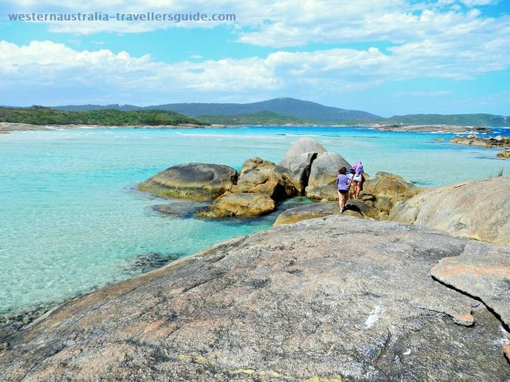 Exploring Madfish Island in William Bay National Park on the south coast of Western Australia near Denmark