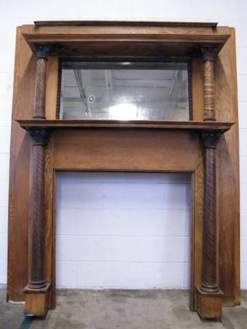 Columbus Architectural Salvage - Antique Wood Fireplace Mantel