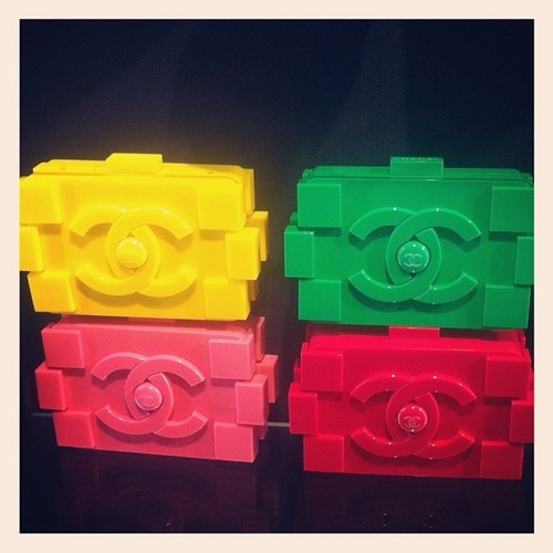 Chanel Lego-inspired clutches!