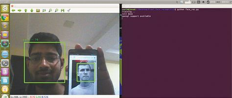 Built using Python & OpenCV, this real time face recognition system is capable of identifying, and verifying a person from a video frame.