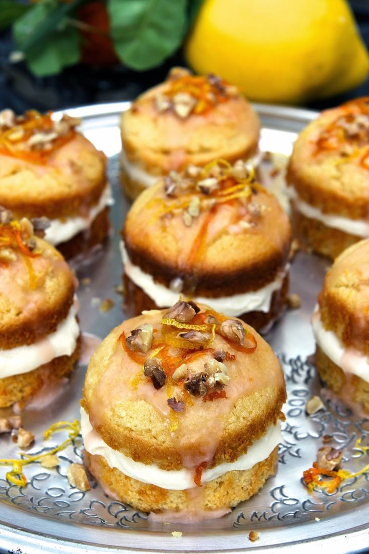 St Clement's Cakes - gluten free (with dairy free/fatless sponge)