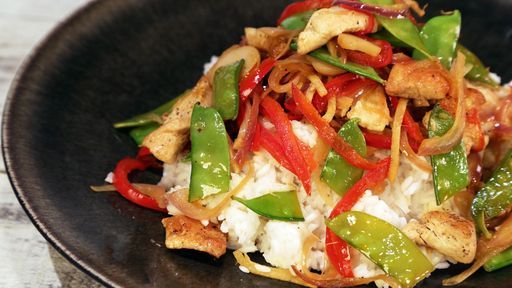 Lightened-Up Asian Stir Fry CLINTON KELLY - Chew Recipes