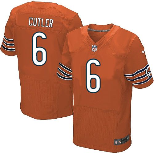 Nike Chicago Bears Jay Cutler Jersey Men Orange #6 Alternate NFL Jerseys