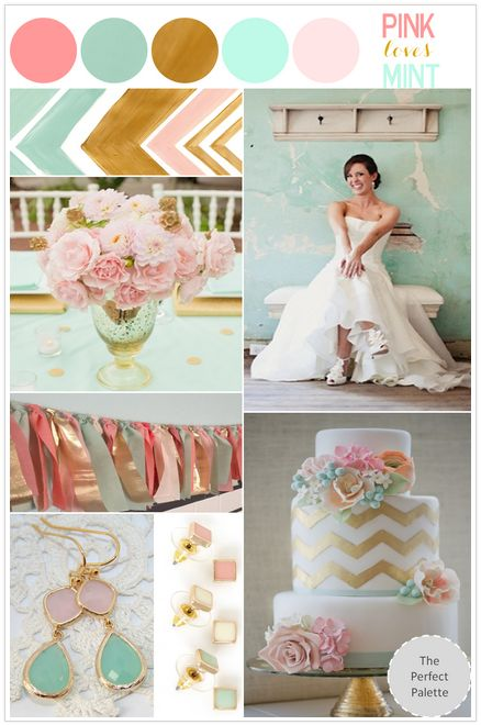 Wedding Inspiration Pink Loves Mint