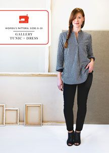digital gallery tunic + dress sewing pattern