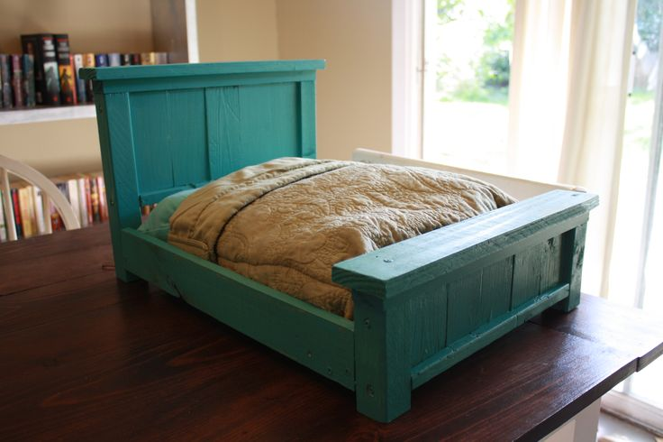 Do It Yourself Furniture: Farmhouse Doll Bed From Www.killerbdesigns.com #Plan
