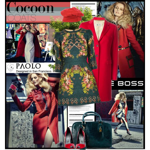 """""""Cocoon Coats and Paolo shoes 90"""" by spenderellastyle on Polyvore"""