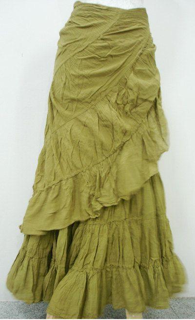 Pirate Mermaid............Bohemian Earthtone Long Wrap Skirt. $44.00, via Etsy.