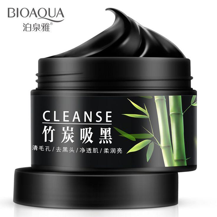 Marca rosto cuidados com a pele de carvão de bambu cravo remover Facial diminuir os poros clarear a máscara de creme de controle de óleo hidratante alishoppbrasil