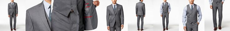 Alfani Men's Traveler Grey Solid Slim-Fit Suit Separates, Only at Macy's