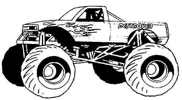 monster truck ausmalbilder  ausmalbilder für kinder