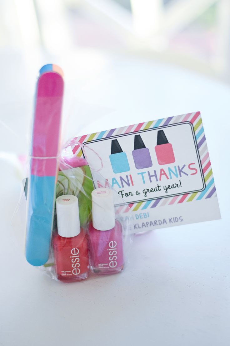 Manicure End of Year Teacher Gift Idea