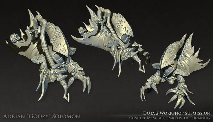 Dota 2 - Lil' Wraith Courier [High Poly], Adrian Solomon on ArtStation at https://www.artstation.com/artwork/dota-2-lil-wraith-courier-high-poly
