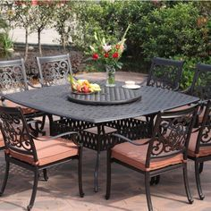Black Wrought Iron Patio Furniture With Cushions And Lazy Boy Outdoor Furniture On Cozy Hexagonal Pavers Plus Lazy Boy Locations Also Lazy Boy Outdoor Furniture Replacement Cushions